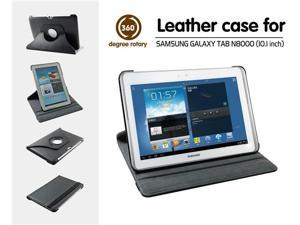 GALAXY Note 10.1 Leather Folio Case with 360 Degrees Rotatry Stand for Samsung GALAXY Note 10.1 inch N8000, N8013, Wi-fi ...