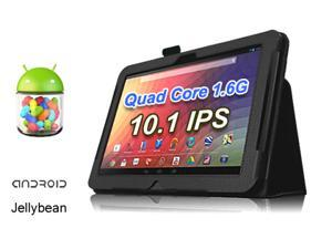 """vitalASC ST1011-16G 10.1"""" Android Tablet PC - IPS Quad Core 1.6Ghz, 1GB Memory, 16GB Flash, Dual Camera, Bluetooth, Android ..."""