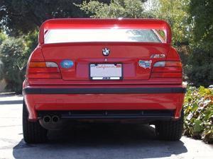 Unpainted 1992-1998 BMW 3 Series Sedan Spoiler E36 High Style