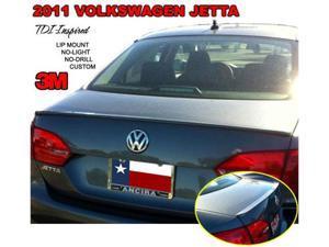 Painted 2011-2012 Volkswagen Jetta Lip Spoiler TDI Custom Style