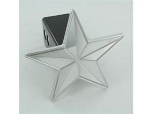 """All Sales 1014 Universal 2"""" receiver Nautical Star Hitch Cover- Polished"""