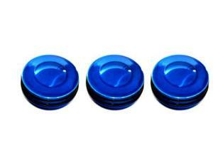All Sales 5411RB FORD 05-07 F250/350 Super Duty  Interior Dash Knobs (set of 3)- O-ring Blue