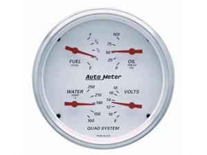 Auto Meter 1303 Arctic White Street Rod Kit