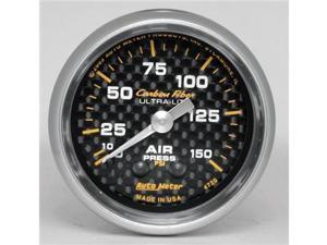 Auto Meter 4720 Auto Meter Carbon Fiber Mechanical Air Pressure Gauge