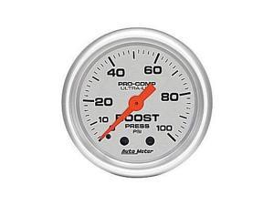 Auto Meter 4306 Auto Meter Ultra-Lite Mechanical Boost Gauge
