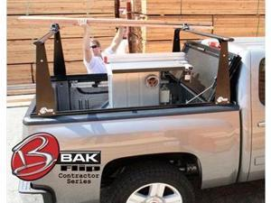 BAK Industries 90-26101BT BakFlip CS Hard Folding Tonneau Cover w/ Contractors Sliding Rack System and BakBox