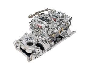Edelbrock 20654 Edelbrock RPM Air-Gap Dual-Quad Intake Manifold/Carburetor Kit