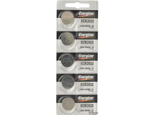 Energizer CR2032 Lithium Battery: Card of 5