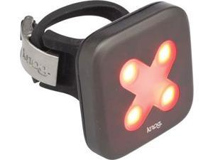 Knog Blinder 4 Cross USB Rechargeable Taillight: Red LED~ Gunmetal Body