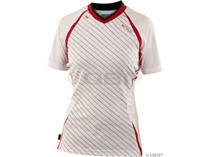 Royal Women's Concept Cycling Jersey: White/Red~ XL