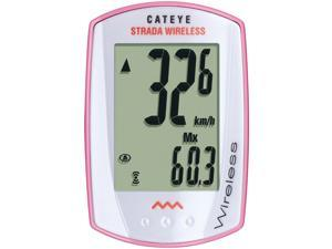 CatEye Strada Wireless Cycling Computer: Pink/White