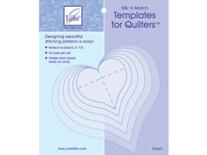 Mix'n Match Templates For Quilters 6/Pkg-Heart