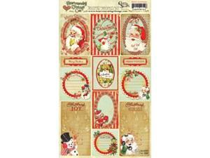 "Creative Scraps Heartwarming Vintage Cuts 7""X12"" Sheet-Retro Christmas"