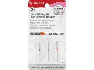 Universal Regular Point Overlock Machine Needles-Size 12 3/Pkg
