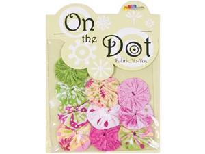 "Fabric Palette On the Dot Yo-Yos 1.5"" 100% Cotton 10/Pkg-Flutterby YoYo"
