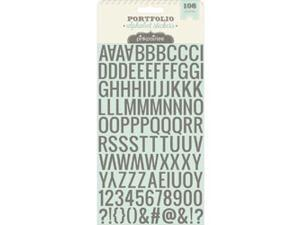 Portfolio Puffy Glitter Stickers-Alphabet