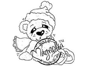 Little Christmas Cling Stamp-Cozy Christmas Bear