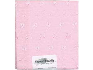 "Novelty & Quilt Fabric Pre-Cut 100% Cotton 21"" Wide 1/4yd-Pink Eyelet"