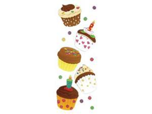 Touch Of Jolee's Dimensional Sticker-Cupcakes