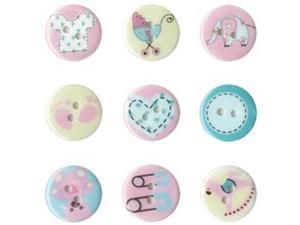 Epoxy Deco Self Adhesive Buttons 18mm 9/Pkg-Baby