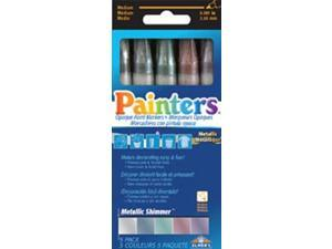Metallic Shimmer Markers 5/Pkg-Assorted
