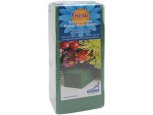 "Wet Foam Block 2-7/8""X3-7/8""X8-7/8"" 1/Pkg-Green"