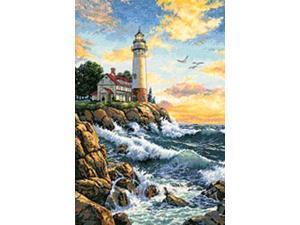 "Gold Collection Rocky Point Counted Cross Stitch Kit-11""X17"""
