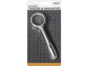 Mighty Bright Lighted Tweezer & Magnifier-Silver