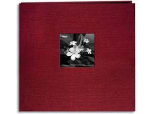 "Silk Postbound Album With Photo Window 12""X12""-Cranberry"
