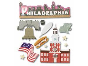 Jolee's Boutique Dimensional Destination Sticker-Philadelphia