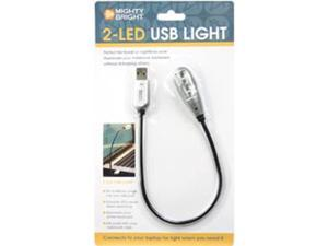 Mighty Bright 2-LED USB Light-Silver