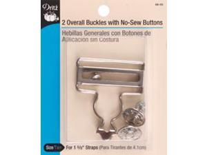 """Overall Buckle For 1-5/8"""" Straps 2/Pkg-Nickel"""