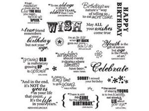"Fiskars Quote Clear Stamps 8""X8""-Make A Wish"