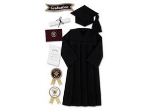 Jolee's Boutique Le Grande Dimensional Graduation Sticker-Graduation Cap & Gown/Black