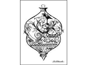 "LaBlanche Silicone Stamp 3.75""X2.75""-Intricate Glass Ornament"
