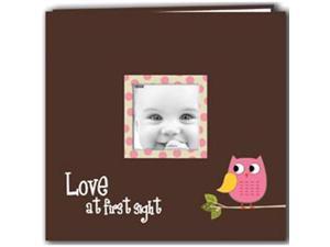 "Baby Owl Printed Design Postbound Scrapbook Album 12""X12""-Pink"