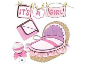 Jolee's Boutique Dimensional Stickers-Clothesline Girl