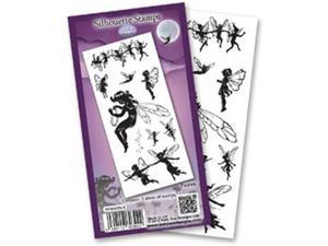 "Flower Soft Silhouette Clear Stamps 4""X6"" Sheet-Fairies"
