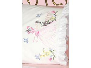 "Stamped Lace Edge Pillowcase 30""X20"" 2/Pkg-Miss Daisy"