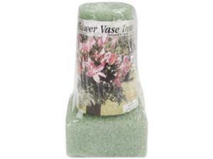 """Styrofoam Vase Insert 6""""X3""""X2"""" 1/Pkg-Green"""