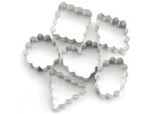 Mini Metal Cookie Cutters 6/Pkg-Geometic Crinkle