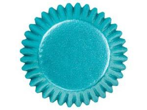 "Candy Cups 1"" 75/Pkg-Blue Foil"