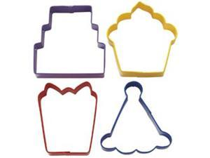 Metal Cookie Cutter Set 4/Pkg-Party Theme