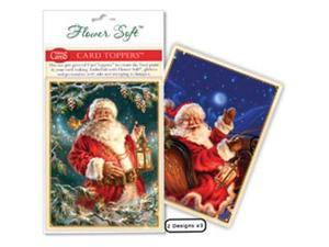 Flower Soft Card Toppers - Christmas-Magic Santa