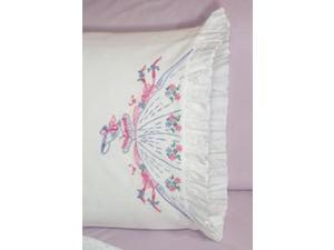 "Stamped Lace Edge Pillowcase 30""X20"" 2/Pkg-Southern Bell"