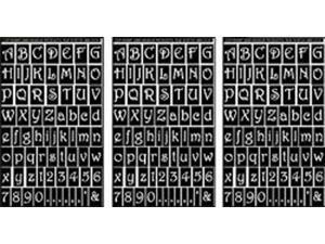 "Rub 'n' Etch Glass Etching Stencils 5""X8"" 3/Pkg-Gala Letters & Numbers"