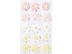 Martha Stewart Stickers-Pink & Yellow Daisy