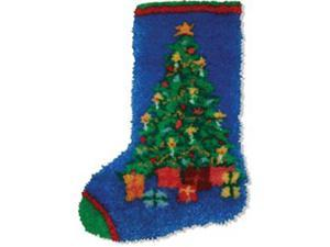 "Latch Hook Kit 12""X17""-Christmas Tree Stocking"