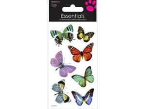 "Essentials Handmade Stickers 2""X6"" Sheet-Butterflies"