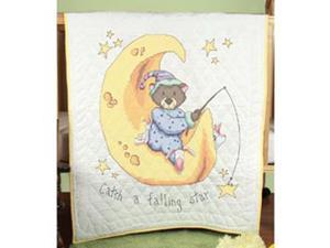 "Stamped Baby Quilt Top 36""X50""-Catch A Falling Star"